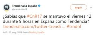 Captura de pantalla del tuit de trendinalia