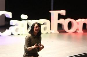 Daniela Bos durante su charla-coloquio en Ciencia en Redes 2017