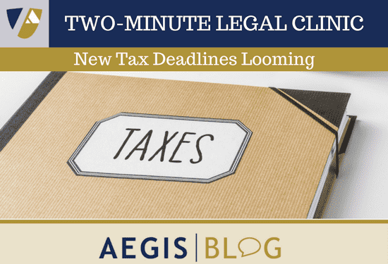 BLOG LINKEDIN New Tax Deadlines Looming