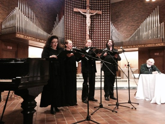 Picture of oratorio singers mid-song