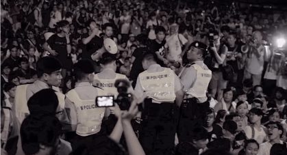 Hong Kong Activists Stage a Sit-in on July 2 (Screenshot from YouTube)