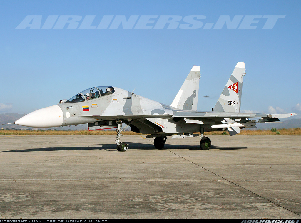 Cazas de Venezuela pueden haber invadido el espacio aéreo brasileño Su-30MKV-com-AA-10