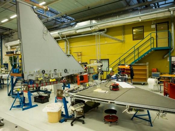Gripen - linha de montagem em Linkoping - foto Saab via G1