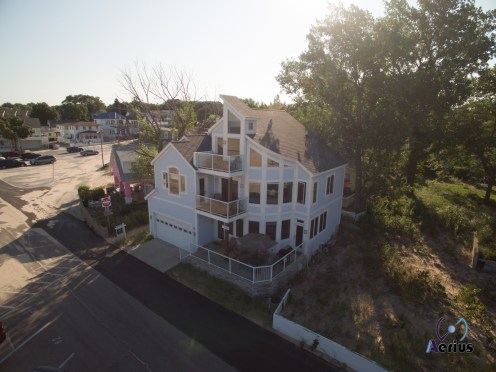 Michigan Beach House captured by Drone