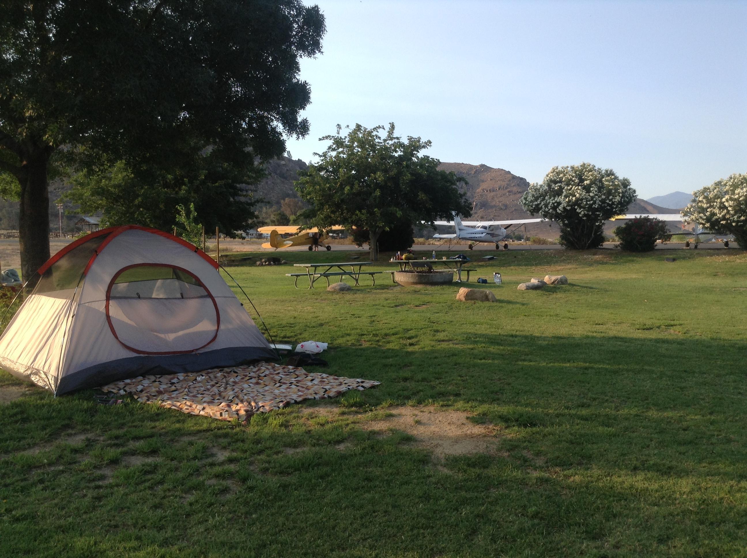 Airplane Camping at Kern Valley
