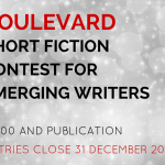 Boulevard Short Fiction Contest for Emerging Writers: Entries Close 31 December