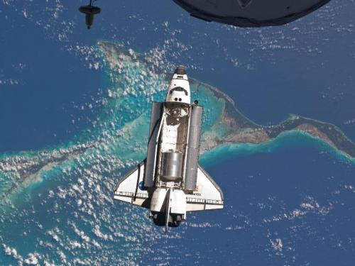Space Shuttle over the Bahamas picture