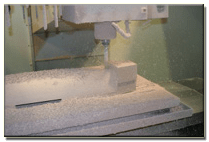 High density foam machining.