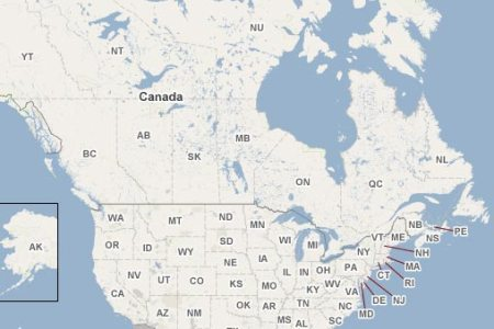 Map Of North America And Canada - Map northeastern us and canada