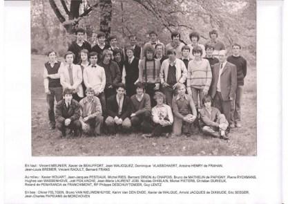 Album : 1982 1982 A 6ème Latin-Grec A 1981-1982 Titulaire : Père Deschuyteneer