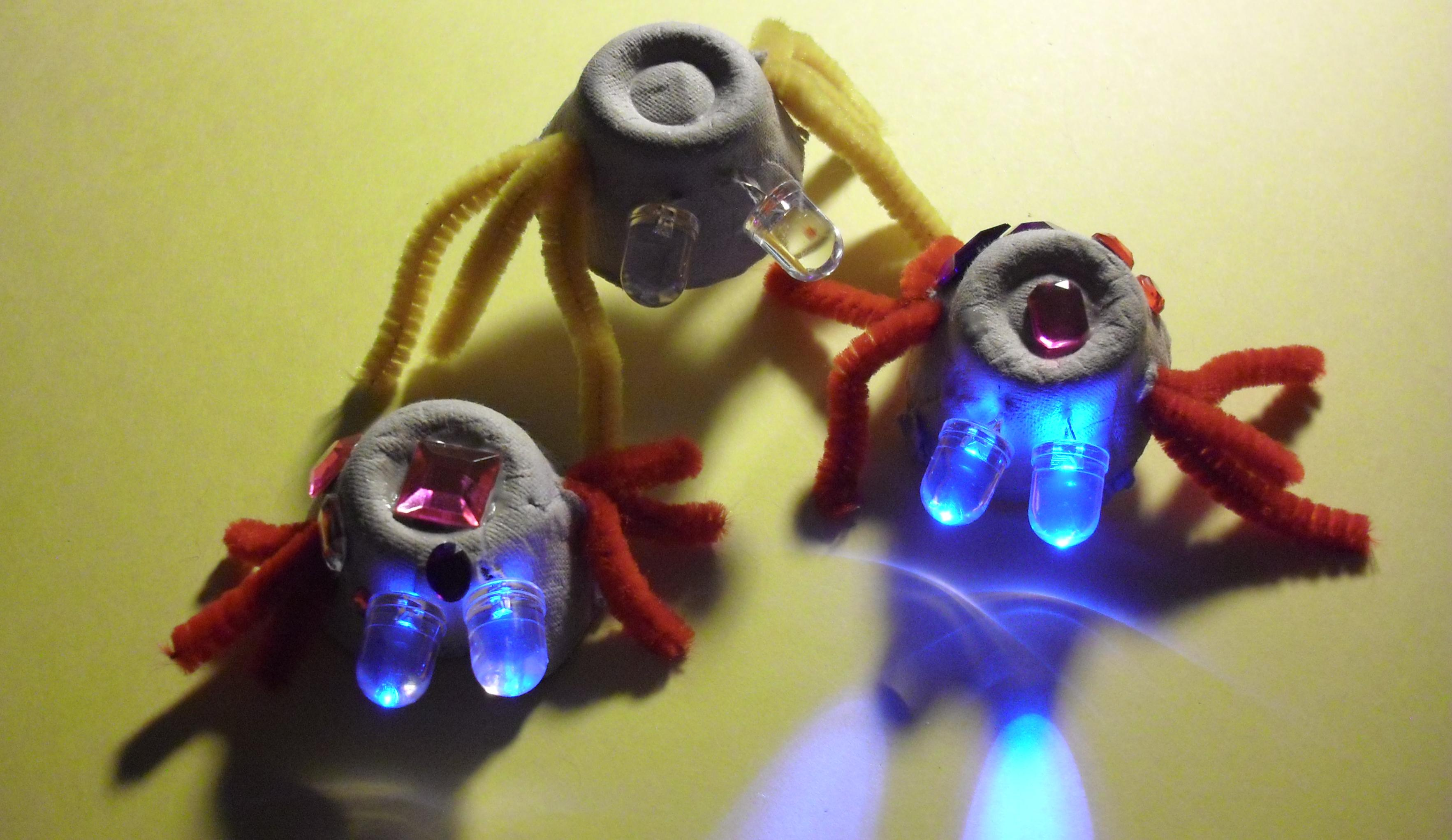 Led bugs an easy craft project for children therczar for Simple handicraft project