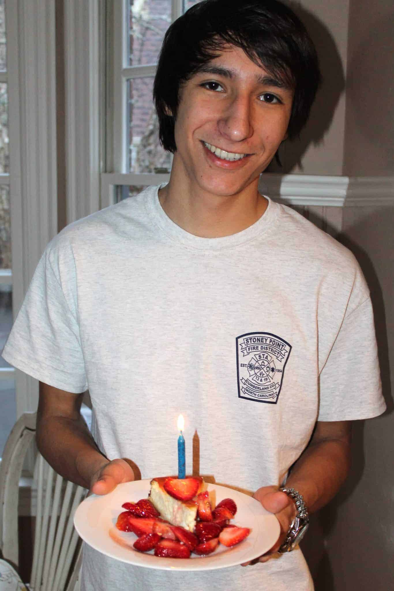 My Son, Joe's Birthday Cheesecake