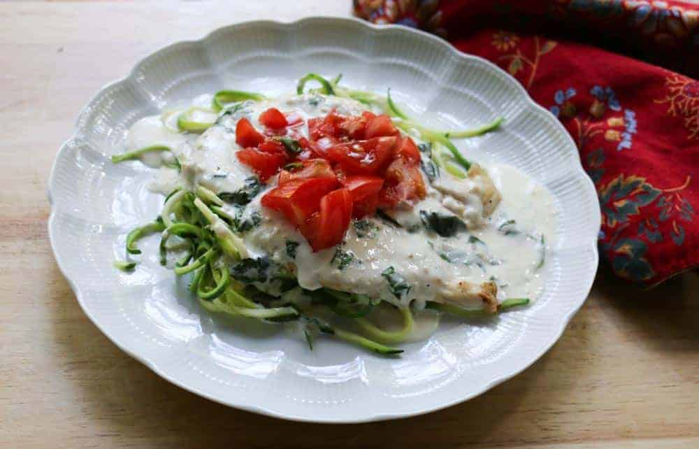 Low-Carb Creamy Bruschetta Chicken