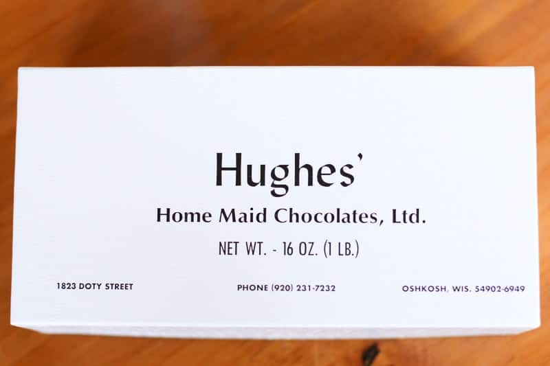 Hughes' Home Maid Chocolates Candy Box