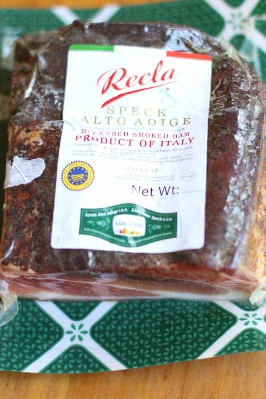 Speck Ham or Speck Alto Adige PGI