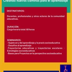 """Trayecto de Formación """"Estrategias socioeducativas. Creando nuevos caminos para el aprendizaje"""""""
