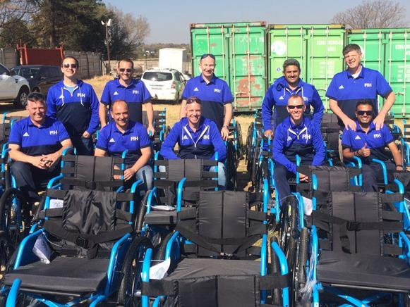 FIH Officials donated their time to charity on Mandela Day Photo: FIH