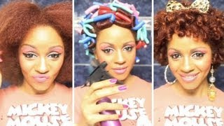 flexi rods on short curly hair