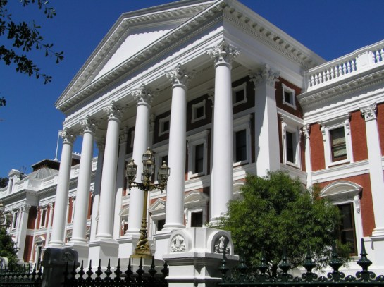 Parliament in Cape Town and Company Gardens