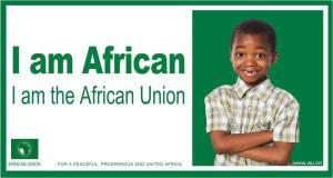 Manifesto che promuove l'Unione Africana