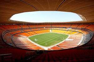 A general view of Soccer City during the official handing over of the stadium to the city of Johannesburg