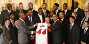 Miami Heat avec Obama_maison blanche