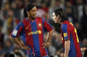 Ronaldinho et Messi