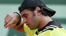 Tunisia's Malek Jaziri reacts during a m