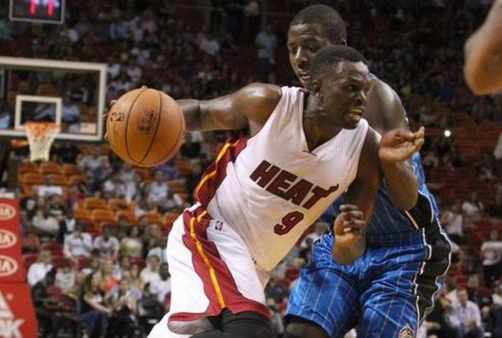 luol deng_heat vs magic_nba preseason