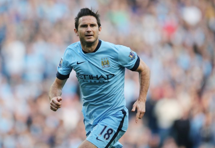 Frank Lampard comes on Manchester City