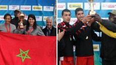 maroc et tunisie champions d'afrique 2015 beach-volley