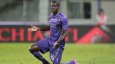 FLORENCE, ITALY - SEPTEMBER 24: Khouma Babacar of ACF Fiorentina reacts during the Serie A match between ACF Fiorentina and US Sassuolo Calcio at Stadio Artemio Franchi on September 24, 2014 in Florence, Italy.  (Photo by Gabriele Maltinti/Getty Images)
