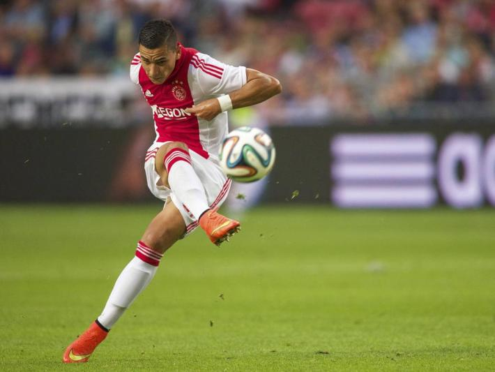 Anwar El Ghazi of Ajax during the Dutch Eredivisie match between Ajax Amsterdam and Heracles Almelo at Amsterdam Arena on September 13, 2014 in Amsterdam, The Netherlands. Ajax Amsterdam v Heracles Almelo Dutch Eredivisie 2014/2015 xVIxxIVx PUBLICATIONxINxGERxSUIxAUTxHUNxPOLxJPNxONLY 2645245Anwar El Ghazi of Ajax during The Dutch Eredivisie Match between Ajax Amsterdam and Heracles Almelo AT Amsterdam Arena ON September 13 2014 in Amsterdam The Netherlands Ajax Amsterdam v Heracles Almelo Dutch Eredivisie 2014 2015 xVIxxIVx PUBLICATIONxINxGERxSUIxAUTxHUNxPOLxJPNxONLY