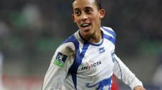 Joie de Kamel Chafni - Rennes/ Auxerre - 09.02.2008 - L1 L 1 Ligue1 Ligue 1 - Foot Football - AJA - largeur attitude joie