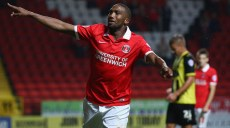 LONDON, ENGLAND - AUGUST 11:  Zakarya Bergdich of Charlton Athletic celebrates scoring a goal during the Capital One Cup First Round match between Charlton Athletic v Dagenham & Redbridge at The Valley on August 11, 2015 in London, England.  (Photo by Ian Walton/Getty Images)
