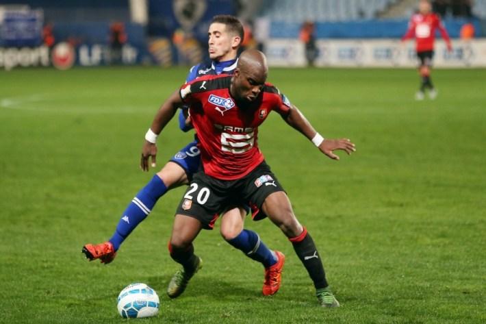 Florian RASPENTINO / Yacouba SYLLA - 27.10.2015 - Bastia / Rennes - Coupe de la Ligue 2015/2016 Photo : Michel Maestracci / Icon Sport