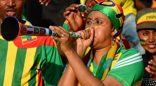 Ethiopia's fans and supporters during the 2013 Orange Africa Cup of Nations soccer match, Ethiopia Vs Nigeria at Royal Bafokeng stadium in Rustenburg, South Africa on January 29, 2013. Nigerian won 2-0. Photo by Christian Liewig/NCI/ABACAPRESS.COM