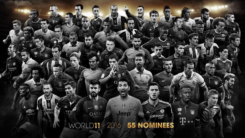 55 noms pour le FIFA FIFPro World11 2016