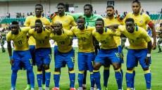 Les Pantheres du Gabon lors du match Gabon-Soudan comptant pour les Eliminatoires de la Coupe d'Afrique des Nations 2017, le 05 Septembre 2015 au stade de l'Amitie a Libreville