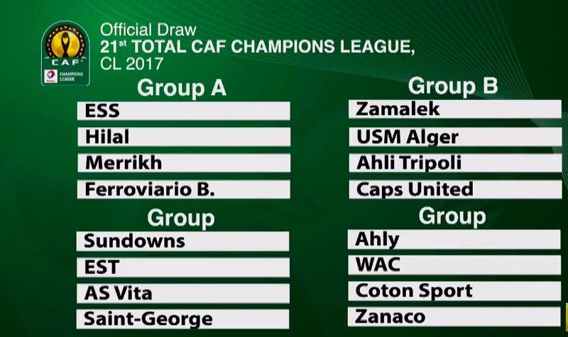 LDC : l'EST avec Vita Club, l'USMA avec Zamalek… les groupes connus !