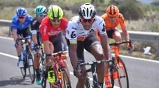 Cycling: 100th Tour of Italy 2017 / Stage 1 Daniel TEKLEHAIMANOT (ERI)/ Eugert ZHUPA (ALB)/ Alghero - Olbia (206km) / Giro / © Tim De Waele