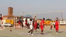 Match de volleyball au stadium Omnisport Joseph Kabila Kabange à Lubumbashi. Photo Cathy Kongolo Bompengo