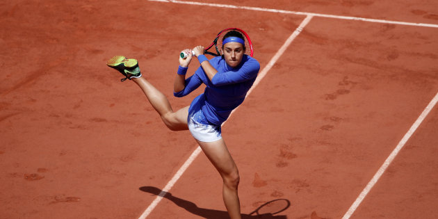 Tennis - French Open - Roland Garros, Paris, France - June 7, 2017   France's Caroline Garcia in action during her quarter final match against Czech Republic's Karolina Pliskova   Reuters / Benoit Tessier