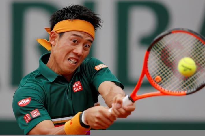 Tennis - French Open - Roland Garros, Paris, France - 30/5/17 Japan's Kei Nishikori in action during his first round match against Australia's Thanasi Kokkinakis Reuters / Gonzalo Fuentes