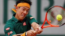 Tennis - French Open - Roland Garros, Paris, France - 30/5/17 Japan's Kei Nishikori in action during his first round match against Australia's Thanasi Kokkinakis Reuters / Gonzalo Fuentes