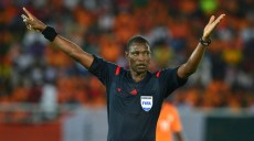 Referee Neant Alioum during the 2015 Africa Cup of Nations semifinal football match between DR Congo and Ivory Coast at the Bata Stadium, Bata, Equatorial Guinea on 4 February  2015 ©Gavin Barker/BackpagePix