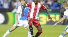 CD Leganes Darko Brasanac (l) and Girona FC s Olarenwaju Kayode during La Liga match. September 20,2017. PUBLICATIONxINxGERxSUIxAUTxPOLxDENxNORxSWExONLY (2017092073)