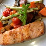 Asian Inspired – Salmon and Baked Vegetable Medley