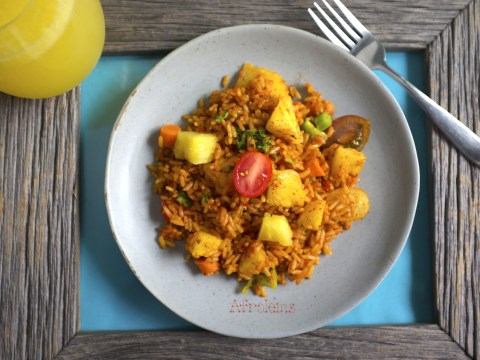 Ghanian pineapple jollof rice