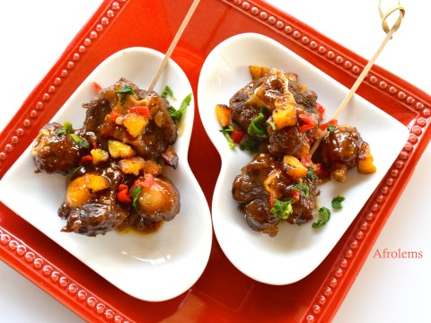 honey garlic oxtail with plantain